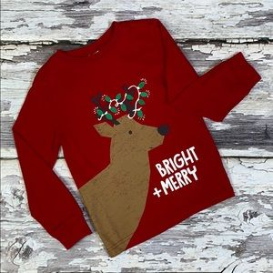 Long Sleeve Gymboree Reindeer Christmas Tee Sz 3T
